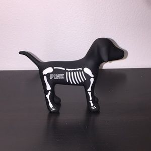 PINK dog skeleton figure